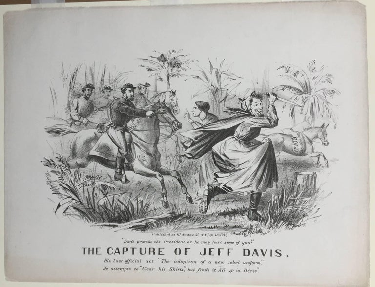 CAPTURE OF JEFF DAVIS - (Dressed as a Woman) - Print by Unknown