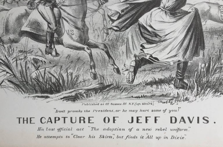 CAPTURE OF JEFF DAVIS - (Dressed as a Woman) - American Realist Print by Unknown