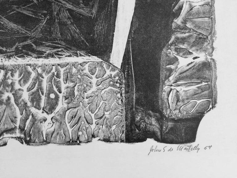 HIEROGLYPHIC - Abstract Print by John Stockton De Martelly