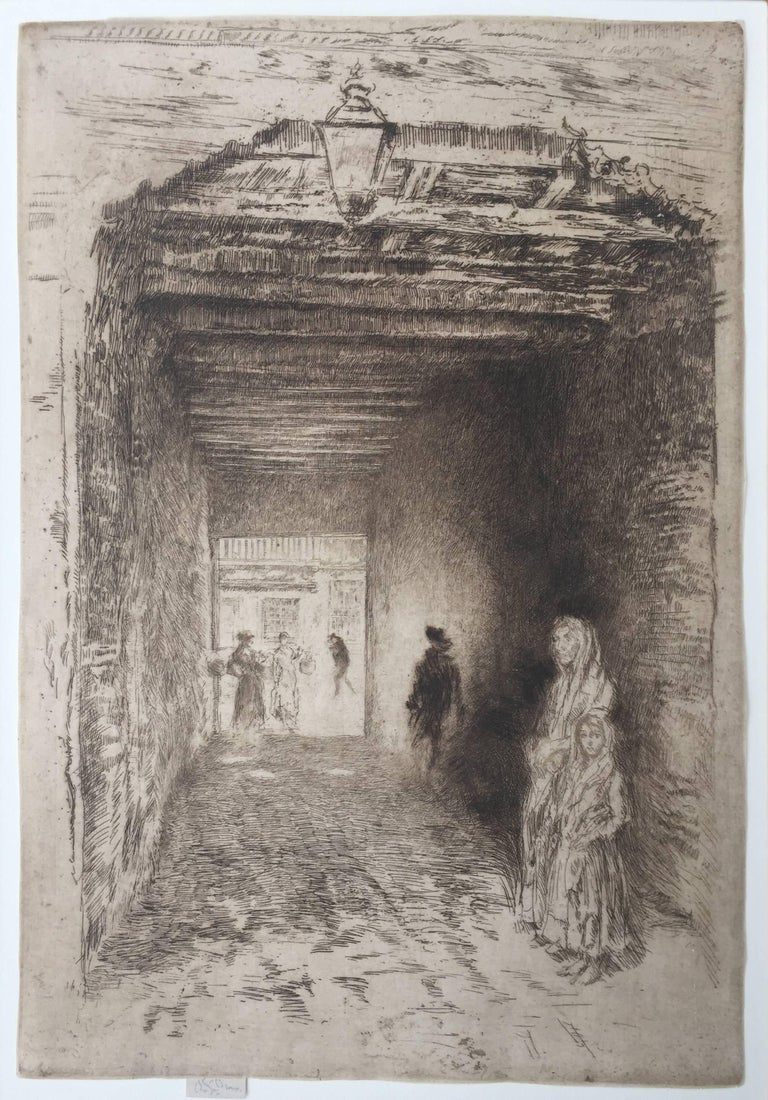 "JAMES ABBOTT McNEILL WHISTLER  (1834 – 1903)            THE BEGGARS 1879-80 (Glasgow 190 x/xvii: K.194 ii/ix?: M.191: W.159)           Etching and drypoint, from ""Venice, a Series of Twelve Etchings"" (the 'First Venice            Set') Trimmed to"