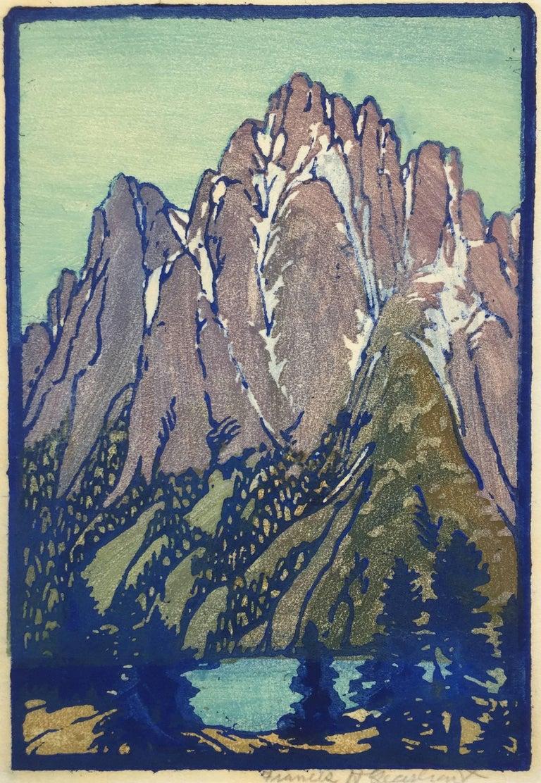 Frances H. Gearhart Landscape Print - LONELY SIERRA