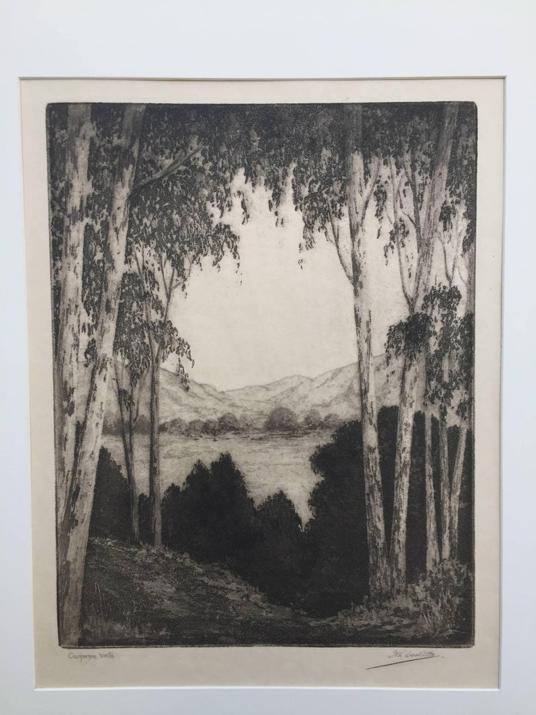 CALIFORNIA VISTA - Black Figurative Print by Harold Lukens Doolittle