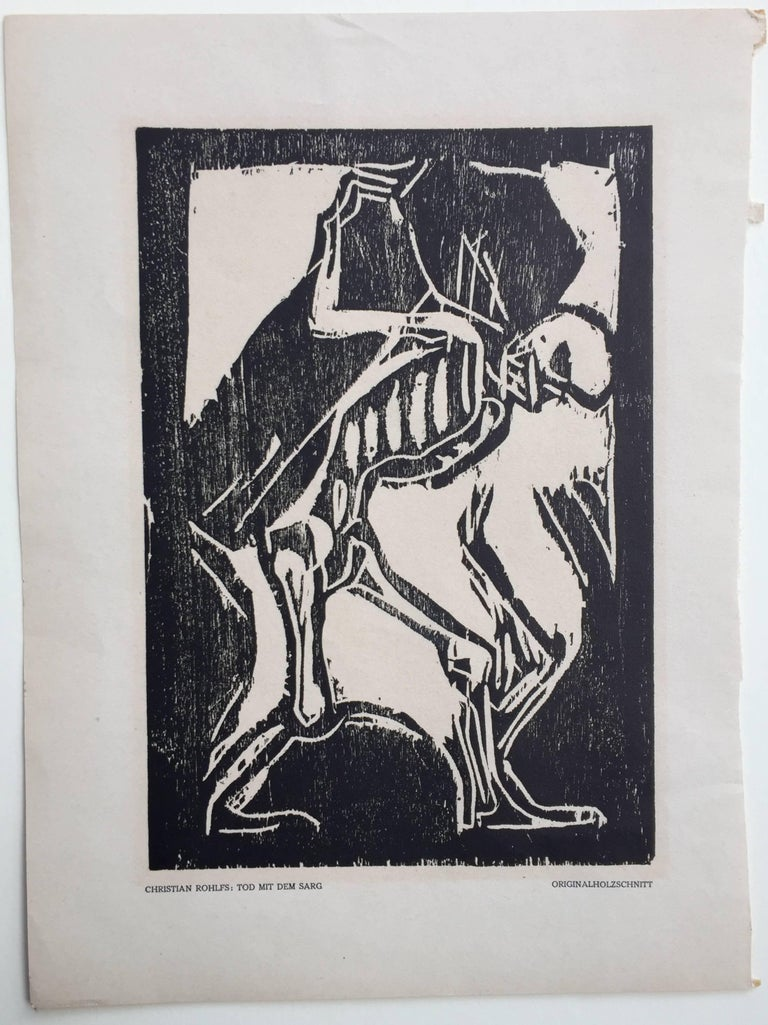 TOD MIT DEM SARG (Death with a Coffin) - Print by Christian Rohlfs