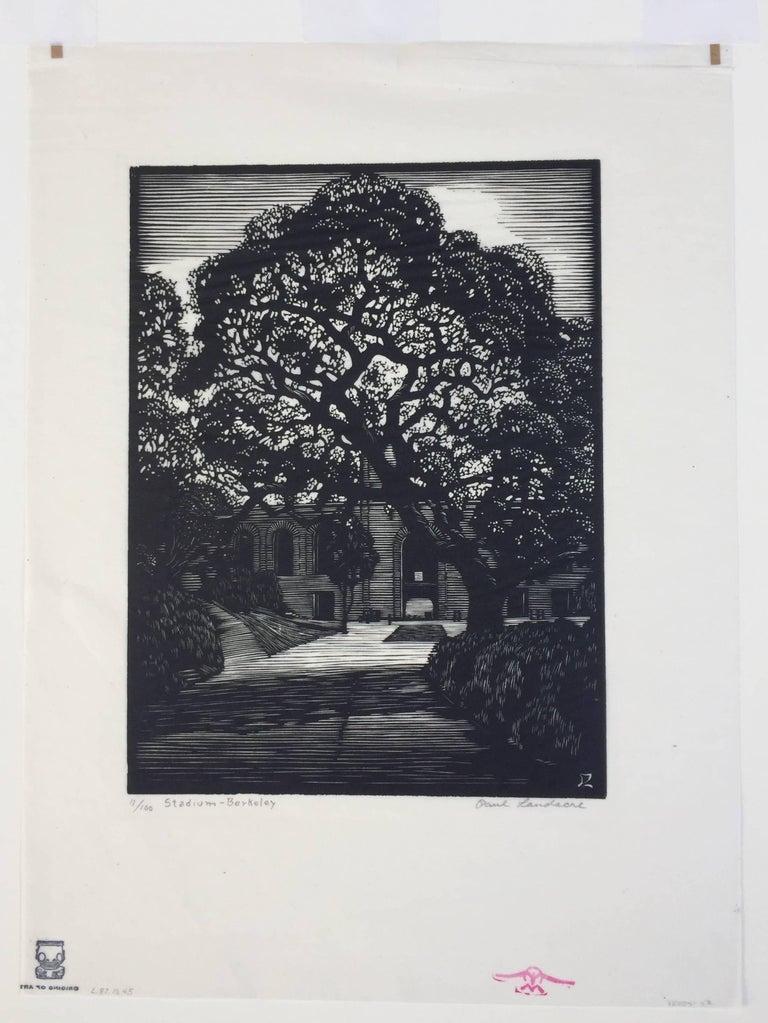 BERKELEY STADIUM - Print by Paul Landacre