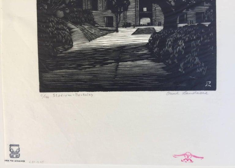 BERKELEY STADIUM - American Modern Print by Paul Landacre