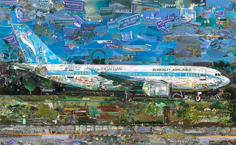 Vik Muniz Color Photograph - Postcards from Nowhere: Jetliner