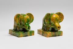 Small Green & Gold Elephants