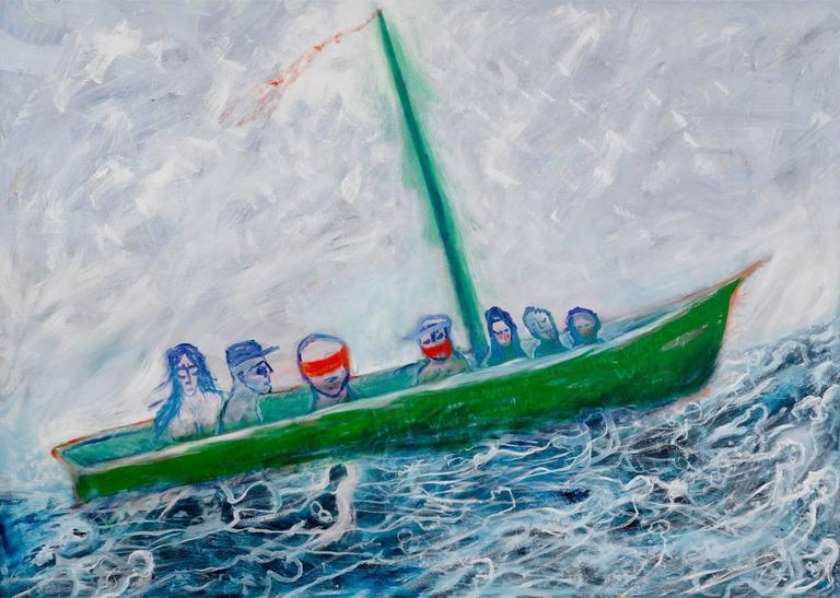Lawrence Ferlinghetti Painting - Boat People