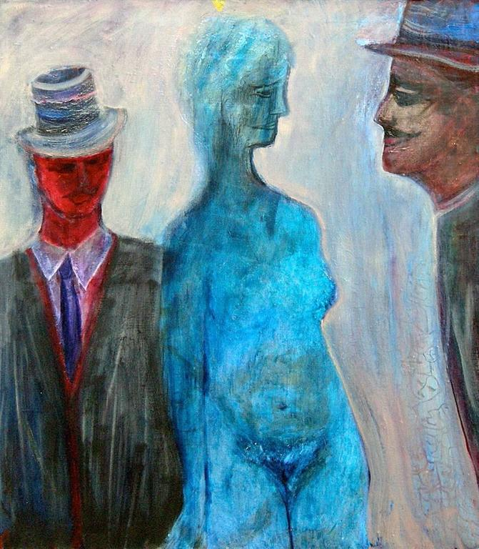 Lawrence Ferlinghetti Figurative Painting - Before the Revolution