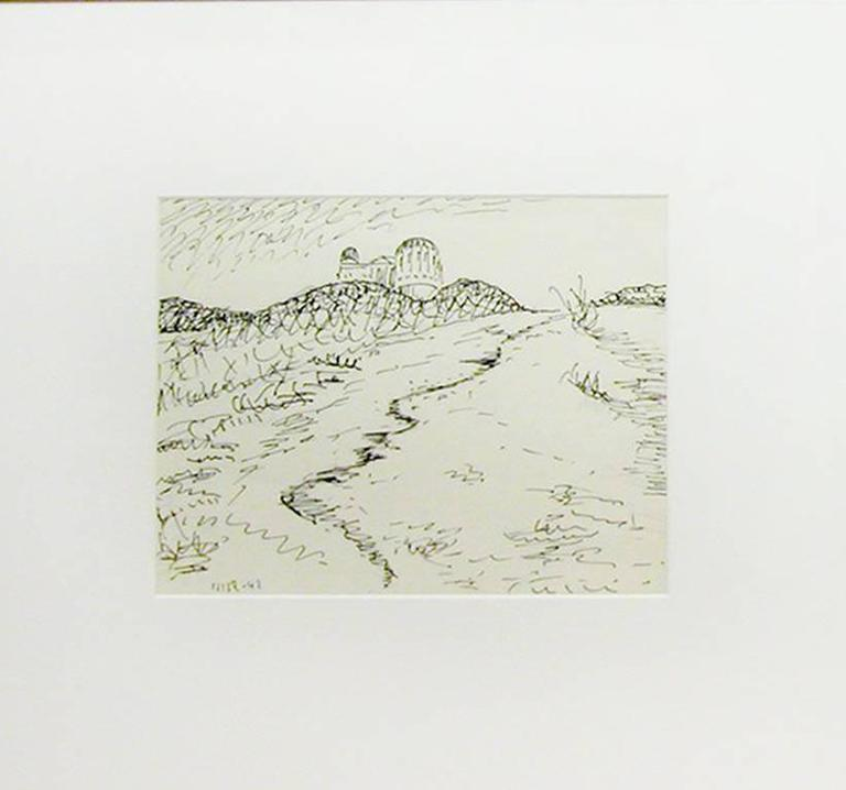 Man Ray - Untitled (Rotunda, water, hills) 1