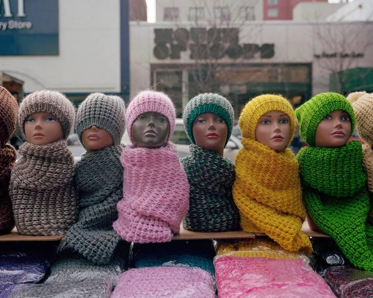 Dawoud Bey Color Photograph - Harlem Redux: Hats and Scarves