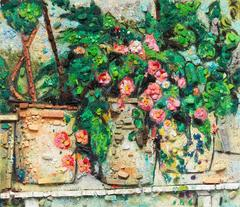 Metachrome: Still Life with Begonias, after Paul Cezanne