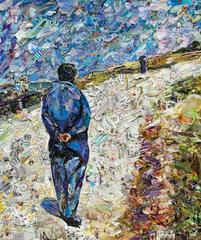 Father Magloire on the Road between Saint-Clar and Etretat, after G. Caillebotte