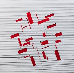 Handmade: Zigzag cut rectangles (Red)