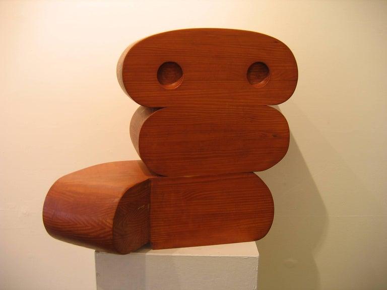Martin Rubio Figurative Sculpture - Sculpture in Wood -- G1B