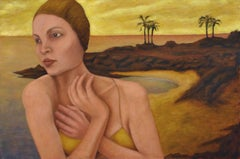 Oil on canvas Portrait -- Ancient Bather