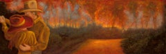 Oil Painting on Canvas  --  Fire Break Dance