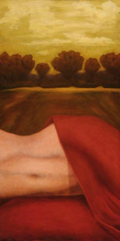 Oil on Canvas Nude Painting  -- Sky Above, Earth Beneath