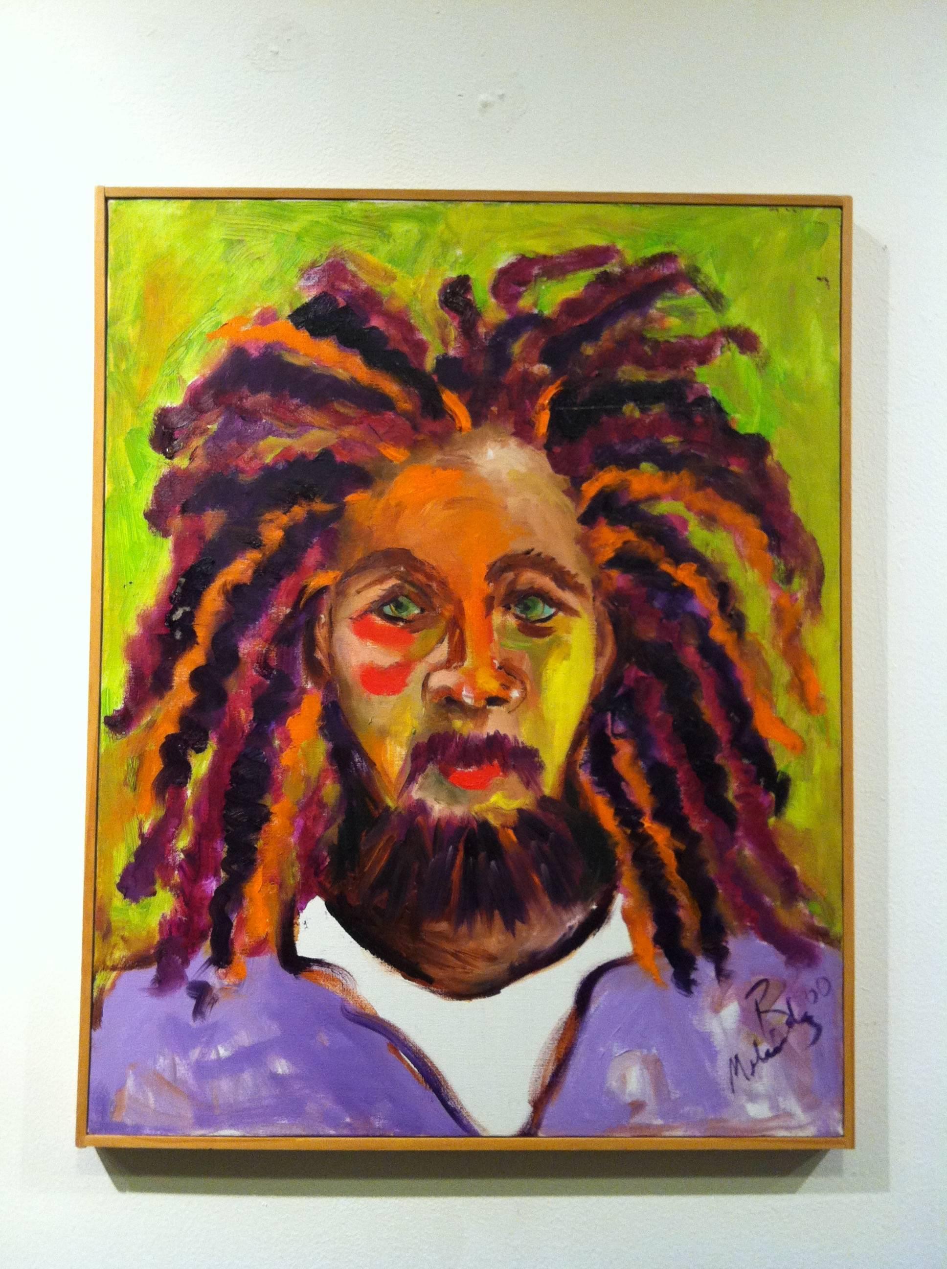 Oil on Linen Portrait -- Subway Rider