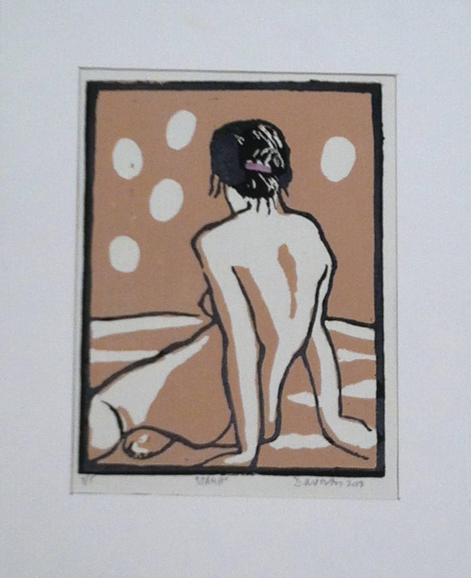 Linocut Print -- Jamie