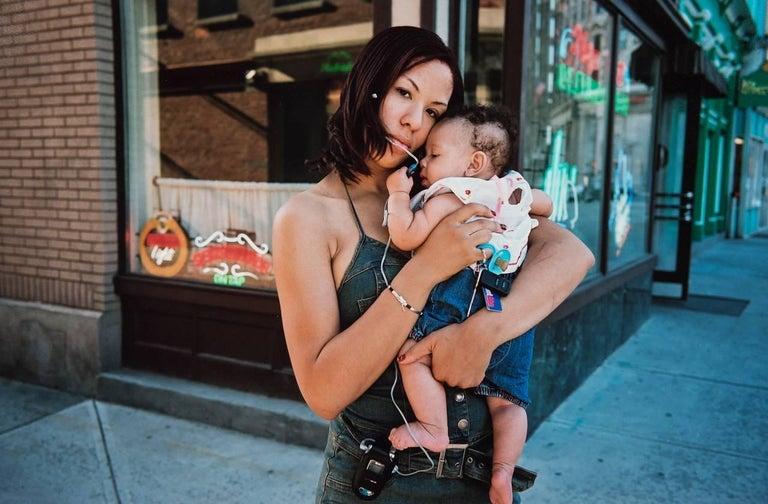 George Simmons Portrait Photograph - Fine Art Color Photograph -- American Culture Series No. 3 [Madonna and Child]