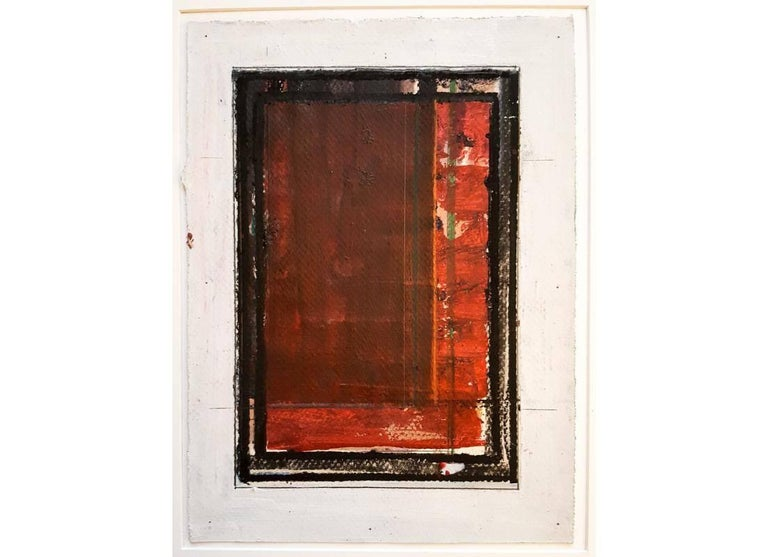 George Simmons Abstract Painting - Crimson Door