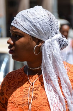 Woman with White Scarf, Havana