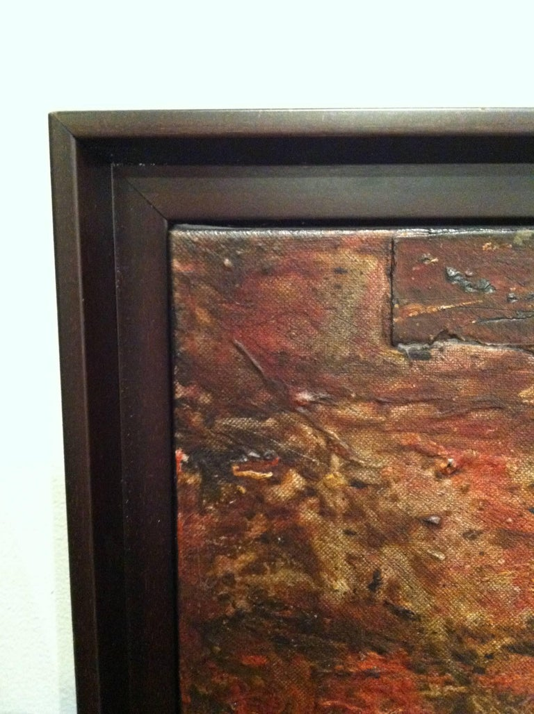 Collaged mixed media Painting  -- Stratified Landscape No. 2 - Gray Abstract Painting by Jaime Suarez