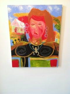 Mixed Media Portrait on Canvas  -- Huracana