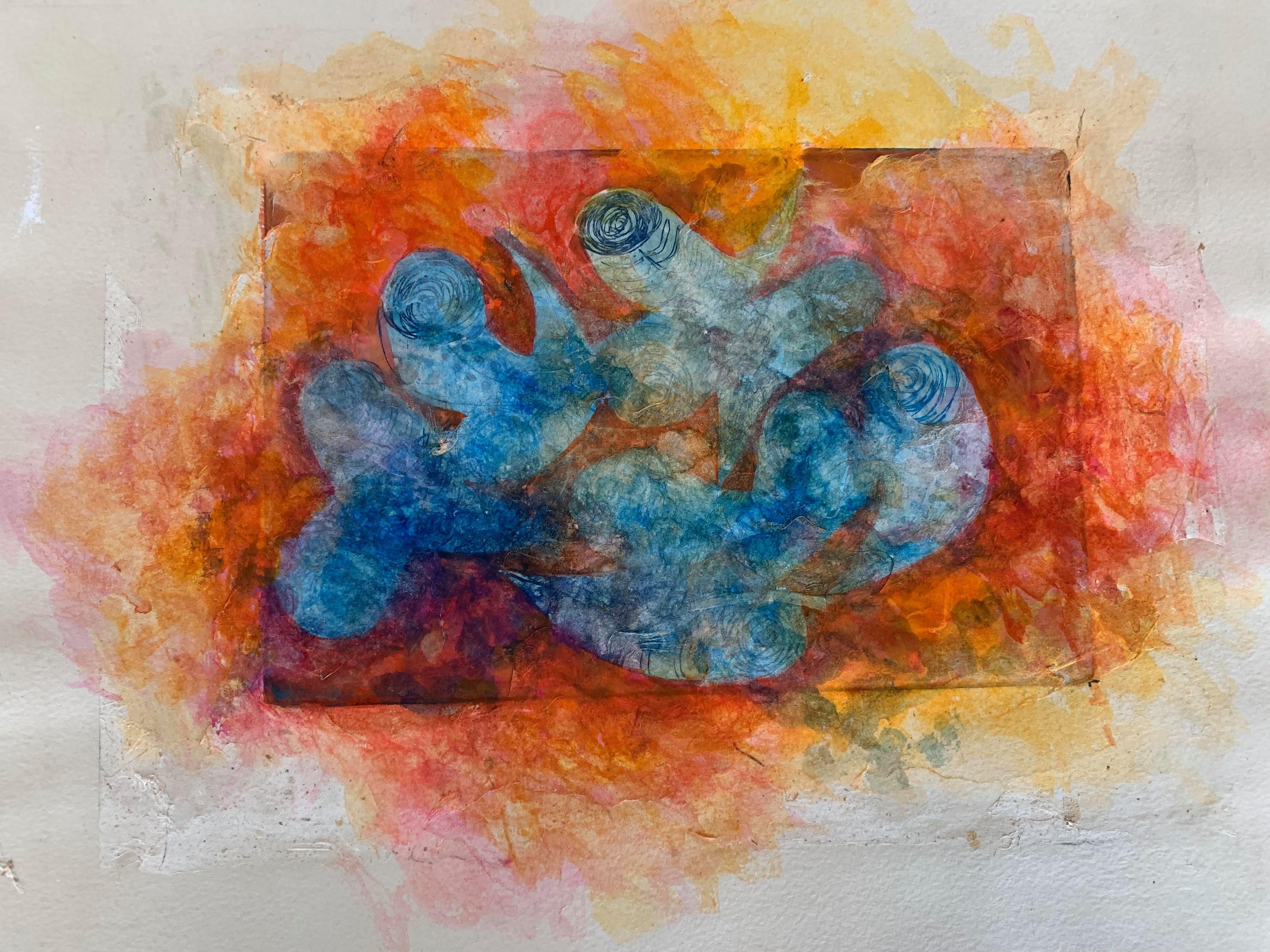 Copper Plate Print-- BichoCreatures Series 3 (Collage)