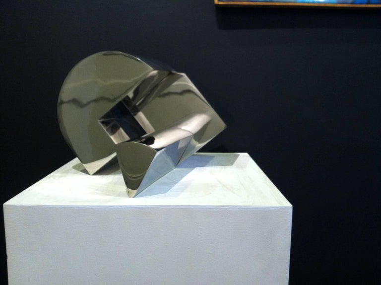 Stainless Steel Sculpture -- The Sun, the Moon and the Wedge - Art by Martin Rubio