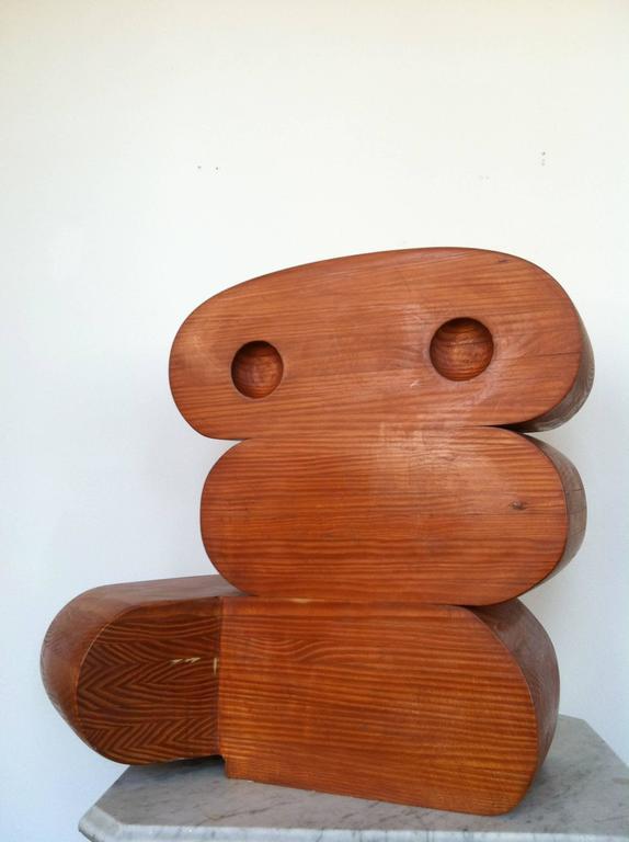 Sculpture in Wood -- G1B - Brown Figurative Sculpture by Martin Rubio
