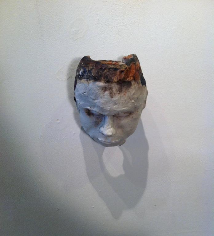 Ceramic Sculpture -- Circle #3/Circulo #3 - Gray Figurative Sculpture by Raul Acero
