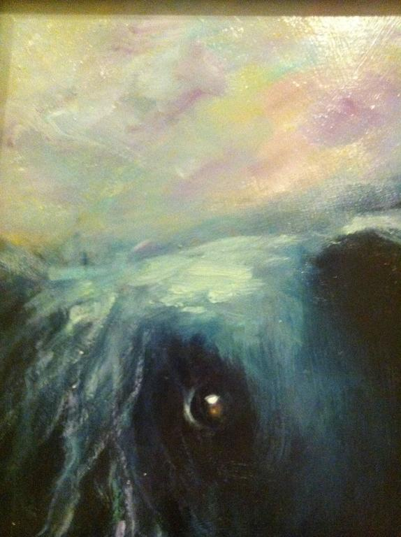 Giving Me The Eye - Contemporary Painting by Olive Farrell