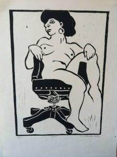 Linocut Print -- Jill