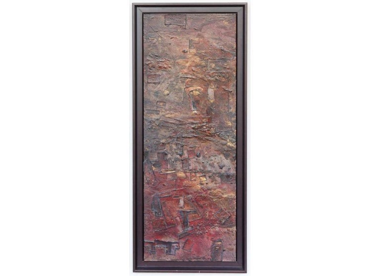 Jaime Suarez Abstract Painting - Collaged mixed media Painting  -- Stratified Landscape No. 2