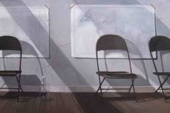 Untitled - Folding Chairs in Artist's Studio
