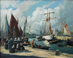 The Harbour Concaneau - Henri Alphonse Barnoin (1882-1940)
