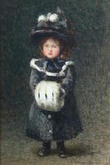 Miss Barbara Lutyens, Age Six, Rose Maynard Barton RWS (1865-1929)