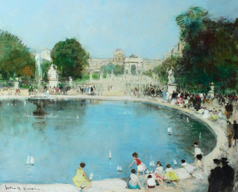 Jules ren herv jardin du luxembourg painting at 1stdibs for Art du jardin zbinden sa