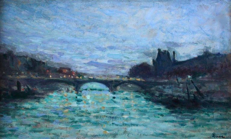 Pont Des Saint Pares & Louvre - Paris