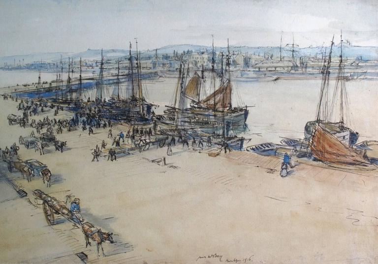 Boulogne Harbour - Troops Loading 1915