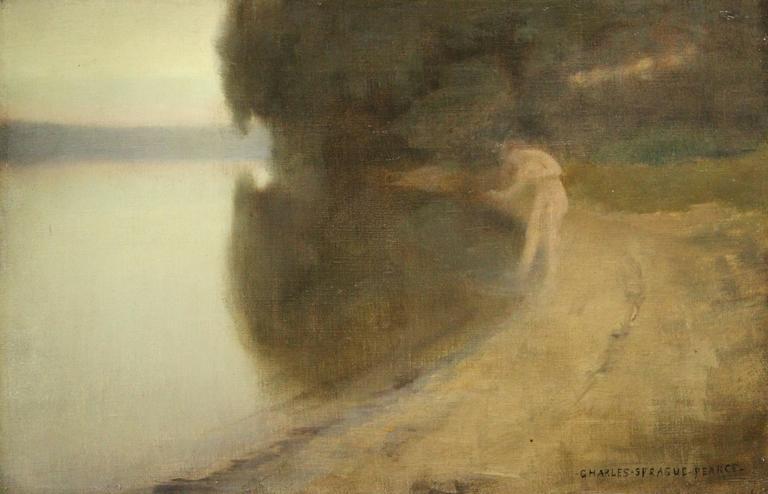Bather by Lake