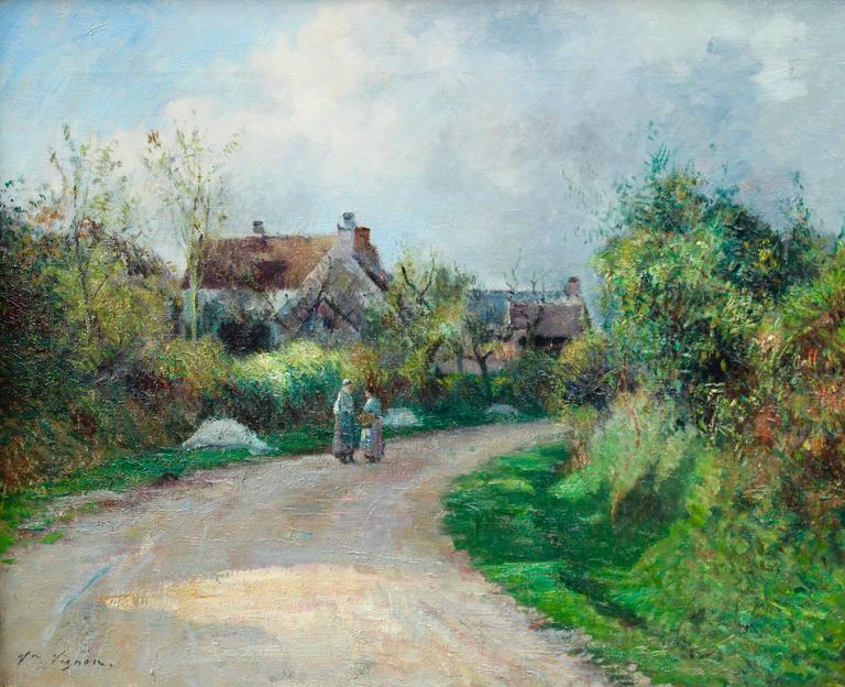 Victor Alfred Paul Vignon Figurative Painting - Village Gossips