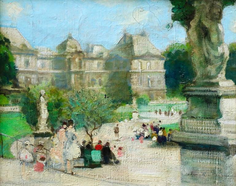 Jules ren herv figures in jardin du luxembourg for Art du jardin zbinden sa