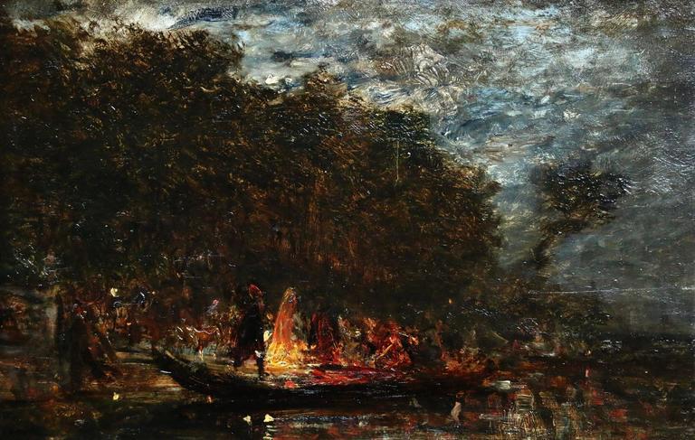 Felix Ziem Landscape Painting - Soir de fête