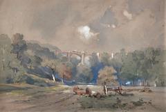 The Brunel Viaduct - Ivybridge , Devon c. 1850