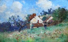 Cottage with Figure