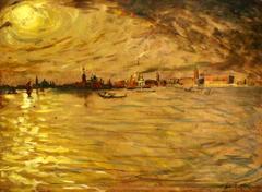 Charles Cottet (1863-1925) - Venice Sunset
