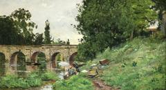 Lavandieres - Pont De Limay - Near Paris